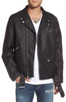 Members Only Men's Faux Leather Moto Jacket