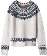 Joe Fresh Kid Girls' Intarsia Sweater, Cream (Size XL)