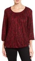 MICHAEL Michael Kors Petite Women's Umbria Lace Print Peasant Top