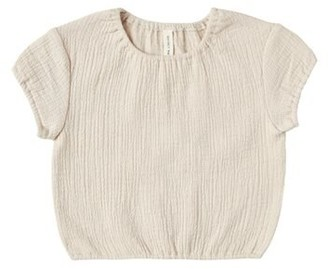 Cinched Woven Tee - Natural - 12-18 Months