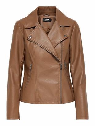 Only Women's ONLMELISA Faux Leather Biker CC OTW Jacke