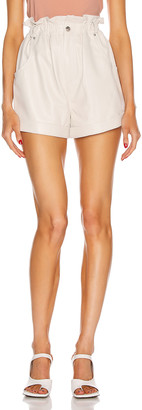 GRLFRND Shea Leather Shorts in Bone | FWRD