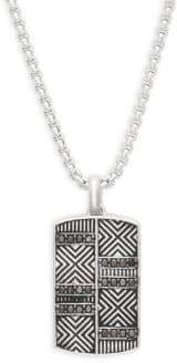 Effy Black Diamond and Sterling Silver Pendant Necklace