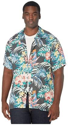 Tommy Bahama Garden Paradise Camp Shirt (Onyx) Men's Clothing