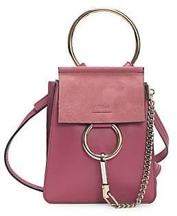 Chloé Women's Mini Faye Leather Bracelet Bag