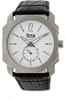 Reign Maximus REIRN4101 Men's Stainless Steel and Black Leather Automatic Watch