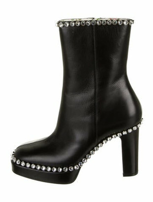 Gucci Olympia Leather Boots Black