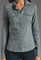 James Perse Western Contrast Panel Shirt