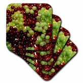 3dRose cst_1216_4 Grapes Ceramic Tile Coasters, Set of 8