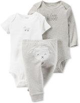 Carter's Baby Boys' or Baby Girls' 3-Pc. Little Lamb Bodysuits & Pants Set
