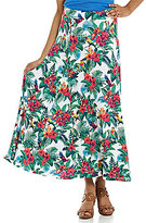Tommy Bahama Jungle Flora Printed Flare Midi Skirt