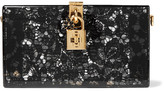 Dolce & Gabbana Lace And Perspex Box Clutch - Black
