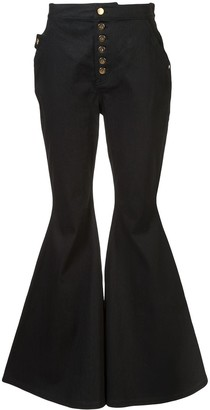 Ellery Flared Slim-Fit Trousers