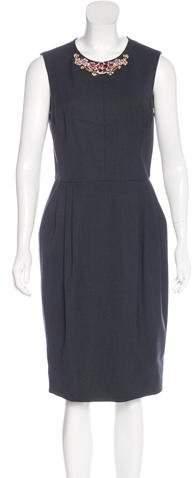 Jason Wu Wool-Blend Embellished Dress
