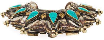 Devon Leigh Turquoise Brass Spike Cuff