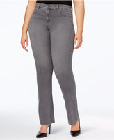 Style&Co. Style & Co Plus Size Tummy-Control Boot-Cut Jeans, Whisper Gray Wash, Created for Macy's