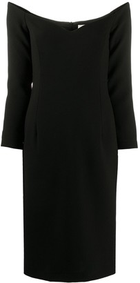 L'Autre Chose Long-Sleeved Knitted Midi Dress