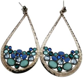 Gas Jeans Blue Metal Earrings
