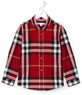 Burberry button down check shirt - kids - Cotton - 7 yrs