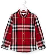 Burberry button down check shirt