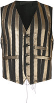 Haider Ackermann vertical striped waistcoat - men - Cotton/Polyester/Spandex/Elastane - 50