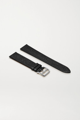 HERMÈS TIMEPIECES Heure H 26.4mm Leather Watch Strap - Silver