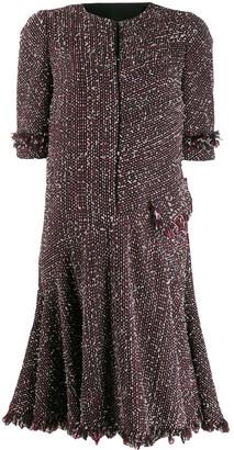 Talbot Runhof Short Tweed Dress