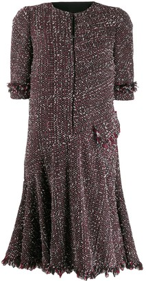 Talbot Runhof short tweed dress