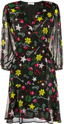 Liu Jo Floral Wrap Dress