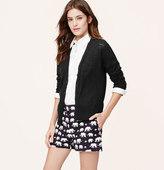 LOFT Textural Cotton Cardigan