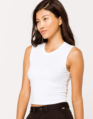 Destined White Womens Muscle Tank Top