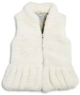 Splendid Girls' Faux Fur Vest - Sizes 4-6X