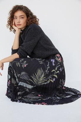 Daniel Rainn Narcisa Pleated Midi Skirt By in Assorted Size XS