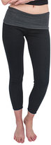Magid Black & Charcoal Fold-Over Leggings - Plus Too