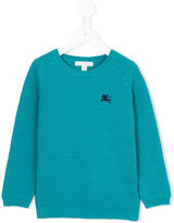 Burberry embroidered logo sweater - kids - Cotton - 4 yrs