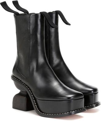 Loewe Platform 100 leather ankle boots