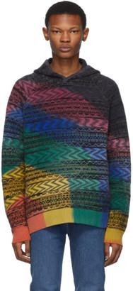 Missoni Multicolor Knit Tie-Dye Hoodie