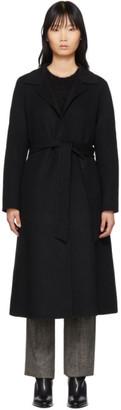 The Loom Black Wool A-Line Coat