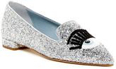Chiara Ferragni Glitter Flirting Pointy Toe Slipper