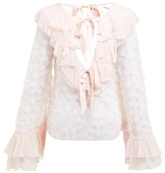 Rodarte Ruffle-trim Fil-coupe Blouse - Light Pink
