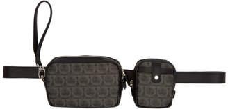 Salvatore Ferragamo Black Multi-Pouch Travel Bag