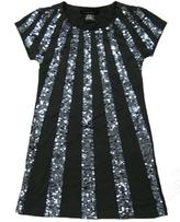 **SALE**Flowers by Zoe - Kid's Grey Sequin Ray Dress