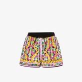Ashish Womens Pink Printed Drawstring Shorts