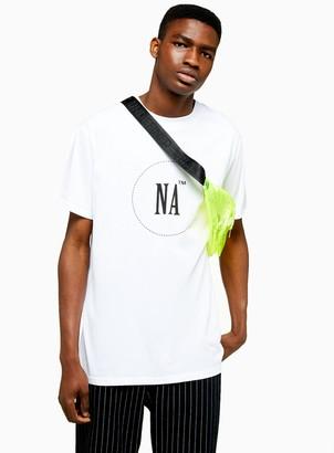Topman NIGHT ADDICT White Oversized Logo T-Shirt*