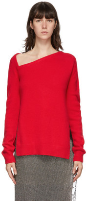 Christopher Kane Red Wool and Cashmere Sweater