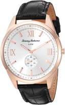 Tommy Bahama Men's Dress Rose Gold Stainless Steel Case and Black Crocodile Embossed Leather Strap Watch (Model:TB00015-07)