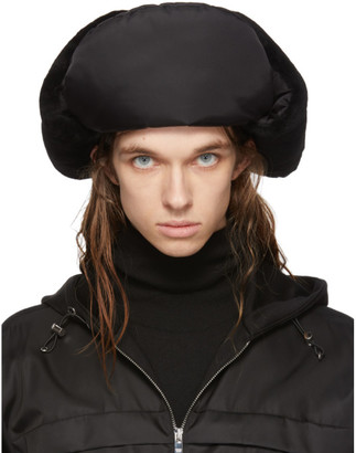 Prada Black Shearling Trapper Hat