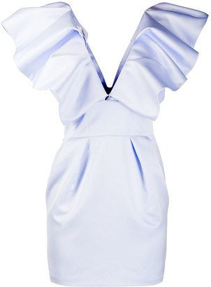 Alexandre Vauthier Rouched Top Fitted Dress