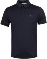 Cp Company Navy Mako Cotton Short Sleeve Polo Shirt
