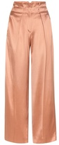 Edun Wide-leg Satin Twill Trousers